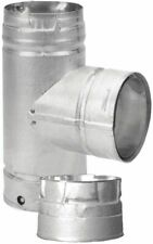 DuraVent 3 in. Tee w Clean-Out Cap Pellet Stove Fireplace Vent Pipe T Adapter