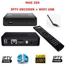 MAG250 WIFI DECODER IPTV 1080P HDMI STREAMING TV MEDIA PLAYER USB WIFI MAG 250