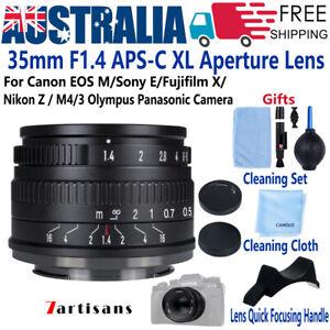 7artisans 35mm F1.4 APS-C Lens for Sony E Fujifilm X Nikon Z Canon EOSM EF M4/3