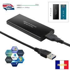 Adaptateur Boitier externe étui housse USB 3.0 pour NGFF M.2 B Clé SSD Carte