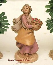 "Fontanini Depose Italy Retired 2.5"" Rachel w/Basket Nativity Village Figure New"