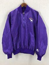 Vintage Joe Camel Cigarettes Purple Starter Jacket Sz Large USA