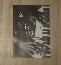 A Vienne en 93. Jazz. 13e édition. 1993. Programme. Très mauvais état.
