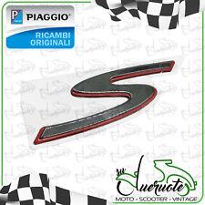TARGHETTA S ANTERIORE SCUDO ADESIVA ORIGINALE PIAGGIO PER VESPA GTS 125 300 250