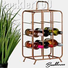 Industrial style WINE RACK bottle holder metal copper tone home display