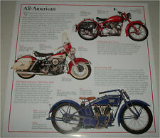 1920 Excelsior 20R, 60 Harley Duo-Glide, 49 India Silver Arro motorcycle print