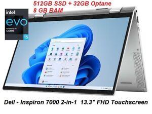 """DELL Inspiron 7000 2-in-1  13.3"""" FHD TOUCH-SCREEN: Windows, Intel i5 EVO, WiFi 6"""