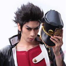 JOJO'S BIZARRE ADVENTURE Kujo Jotaro Wig Short Black Hair Cosplay Wigs + Wig Cap