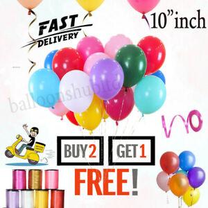 "20 X Latex 10"" inch PLAIN BALOON BALLONS helium BALLOONS Party Birthday Wedding"