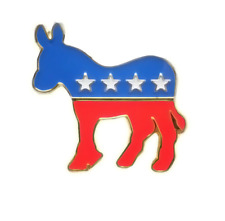 Tack Badge Pin Free Shipping Liberal Democrat Donkey Lapel Pin 28mm Hat Tie