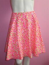 NEW LILLY PULITZE FLUORESCENT FIESTA PINK EVERYTHING  MEADOW SKIRT (B22) SIZE  6