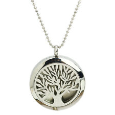 Tree Of Life  Locket Pendant Aromatherapy  Magic Perfume Chain Necklace Jewelry