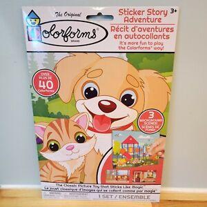 Colorforms Cat Dog Bird Pet Sticker Story Adventure Playground