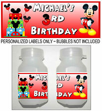 30 MICKEY MOUSE CLUBHOUSE BIRTHDAY PARTY FAVORS BUBBLE LABELS