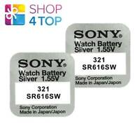 2 SONY 321 SR616SW BATTERIES SILVER OXIDE 1.55V WATCH BATTERY EXP 2021 NEW