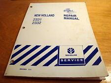 New Holland 2331 2332 Disc Mower Header Service Repair Manual Tv140 Tv145 Nh