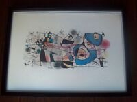 Authentic Joan Miro 1974 Ceramiques Color Lithograph Hand Signed Custom Framed