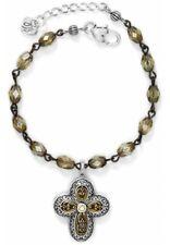 Brighton VIA DELOROSA Cross Devotion NWT Gold and Silver Beaded Bracelet