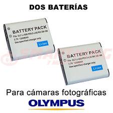 2X BATERÍA Li-50B, Li50B PARA OLYMPUS µ mju Tough 6010; 3.7 V; CAPAC. 1200 mAh