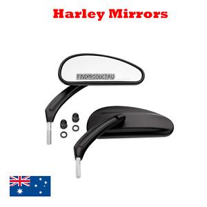 Black teardrop rear view mirrors Harley Softail Heritage Slim Breakout xl 48 883
