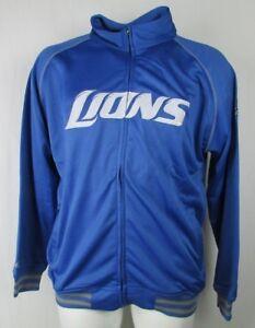 Detroit Lions NFL Full Zip Fleece Blue Embroidered Track Jacket
