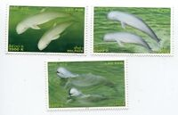 LAOS STAMP 2004 DOLPHIN IRRAWADDY DOLPHIN 3v MNH