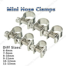 2Pcs Stainless Steel Mini Fuel Line Pipe Hose Clamp Clip 6mm-33mm All Sizes