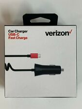 Verizon USB Type C Cable Car Charger 6ft Fast Charge For Samsung, LG, HTC Google