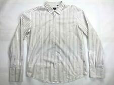 Hugo Boss Long Sleeve French Cuff Button Up Shirt SIZE XXL Slim Fit Blk/Pur/Wht