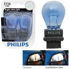 Philips Crystal Vision Ultra Light 3156 27W Two Bulbs Back Up Reverse Replace OE