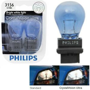 Philips Crystal Vision Ultra Light 3156 27W Two Bulbs Back Up Reverse Plug Play