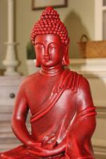 NEW BUDDHA CONCRETE STATUE GARDEN ANTIQUE Buddhism RED ART ORIENTAL SHIPS FREE !