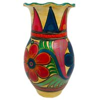 "Mexican Ceramic Talavera Vase 7.5"" Flower Jar Planter Handmade Folk Art Pottery"