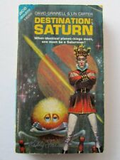 KELLY FREAS COVER SIGNED PB BOOK DESTINATION SATURN GRINNEL & CARTER 1967 ACE s