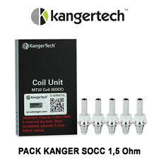 5 Résistances KANGER SOCC 1,5 Ohm pour EVOD, Mini et Protank 1 et 2, Unitank