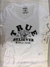 TRUE RELIGION WOMEN TRUE BELIEVER GRAPHICS T-SHIRT WKWV02UU5 WHITE VNK NWT S $81