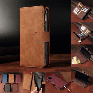 Flip Wallet Phone Case For Huawei P40 P20 P10 Pro Lite Zip Coin Purse Card Slot