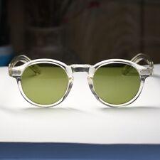 907601f16a12 49mm Vintage Sunglasses Mens Johnny Depp Eyeglasses Blonde Round G15 Glass  Lens