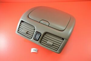 H#5 00-06 NISSAN SENTRA UPPER DASH CUBBY STORAGE COMPARTMENT VENTS TAN BROWN OEM