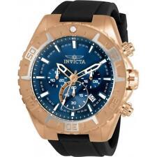 Invicta Aviator 30752 Men's Black Silicone Rose-Gold Tone Chronograph Watch