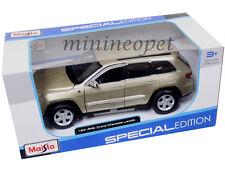 MAISTO 31205 JEEP GRAND CHEROKEE LAREDO SUV 1/24 DIECAST MODEL CAR GOLD