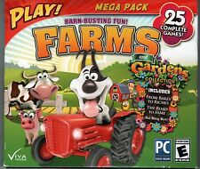 GARDENS INC. 1 & 2  PC Game PLAY! Mega Pack FARMS 25 Complete Games NEW