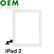 For iPad 2 Digitizer Touch Screen Glass Home Button Genuine White With Adhesive