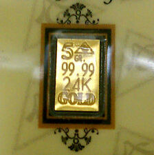 (5 Pack) of  ACB 5GRAIN 24K SOLID GOLD BULLION MINTED BAR 99.99 FINE W/COA!