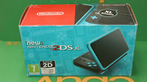 New Nintendo 2DS XL Black/Turquoise Handheld System #2