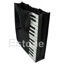 Fashion Black Piano Keys Music Handbag Tote Bag Shopping Bag Handbag