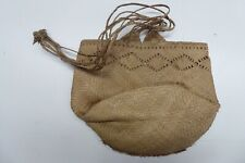 Old Pacific Island Oceanic Woven Kete / Dilly Bag Raffia Flax Antique Tribal