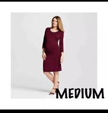 Liz Lange Maternity dress Medium retail $27.99 Bodycon Burgundy Stripe 1