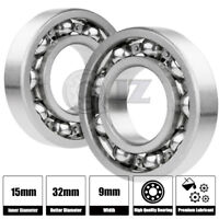2x 6002-Ball Bearing 15mm x 32mm x 9mm Premium Deep Groove New QJZ Free Shipping