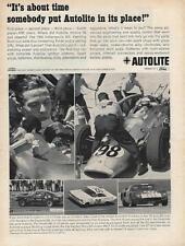 1965 Autolite Indy 500 Ad/Jimmy Clark/
